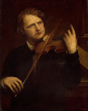 Painting of violinist Joseph Joachim by George Frederick Watts, 1868.