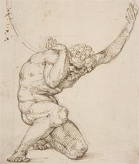 Peruzzi drawing of Atlas