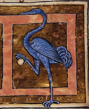 Illustration from a 13th century Latin bestiary.